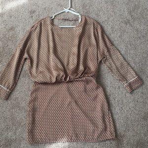 Zara Blouson Dress with Open Back NWT!